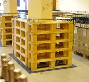 Стойки для бутылок в стиле паллет для АПК Мильстрим - Черноморские вина